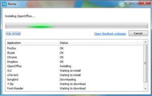 Ninite.com customized application installer