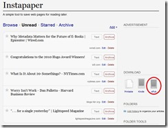 Instapaper - Export to ePub